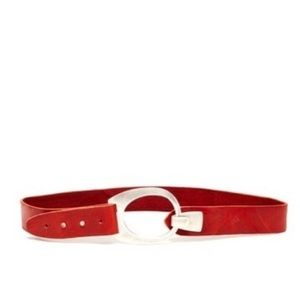 """Streets Ahead """"The Vintage"""" Red Leather Belt"""
